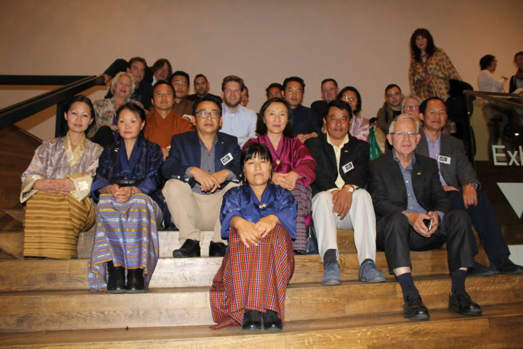Bhutanese delegation on the stairs